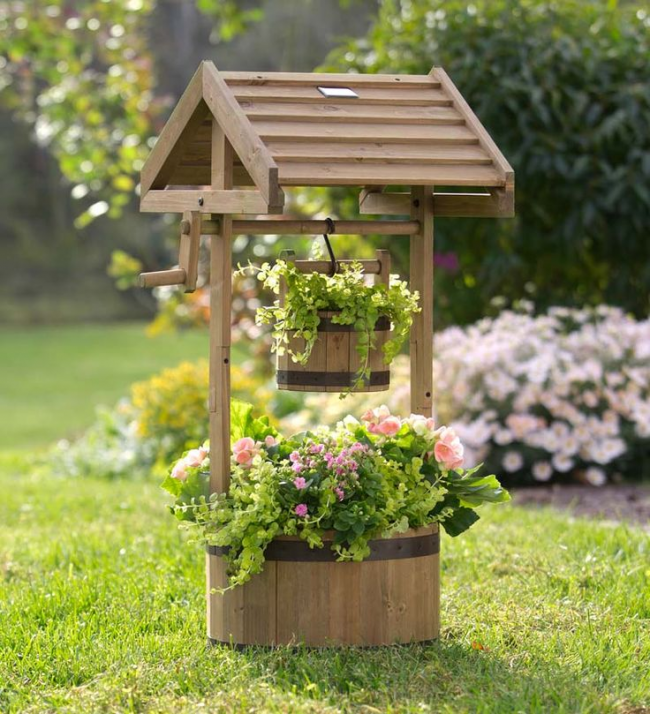 Puits décoratif pour le jardin