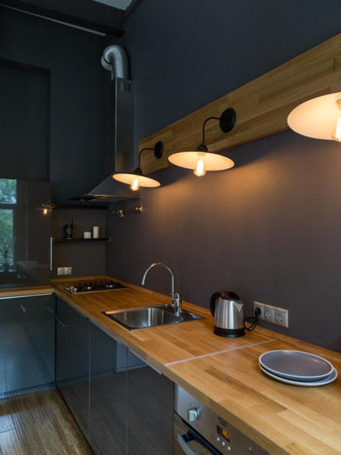 Eclairer une cuisine grise