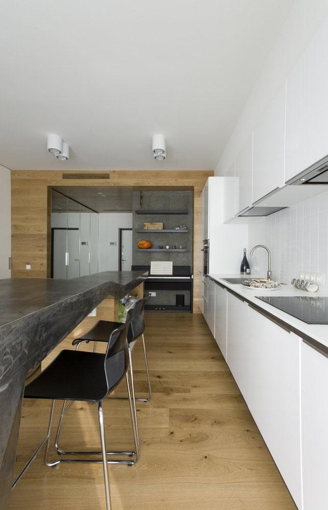 La cuisine Ikea et l'île