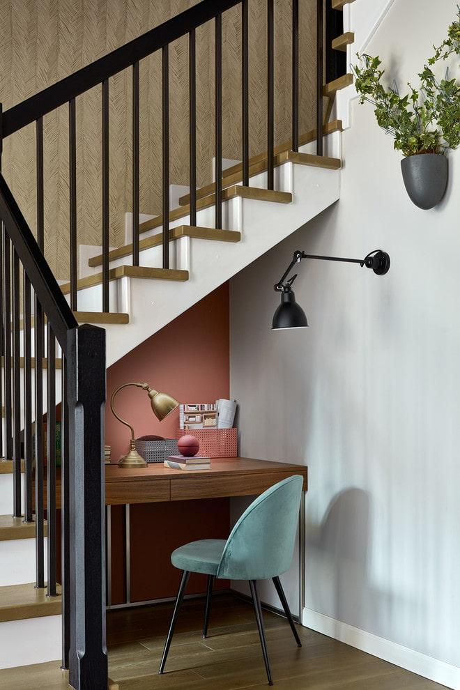 étude sous les escaliers à l'intérieur