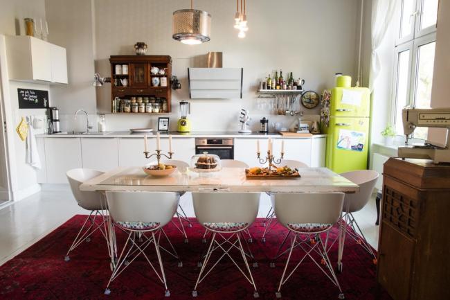 Studio fusion avec réfrigérateur citron lumineux
