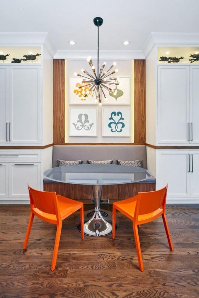 En utilisant le coin cuisine, il est facile de zoner l'espace, quelle que soit la taille de la pièce.