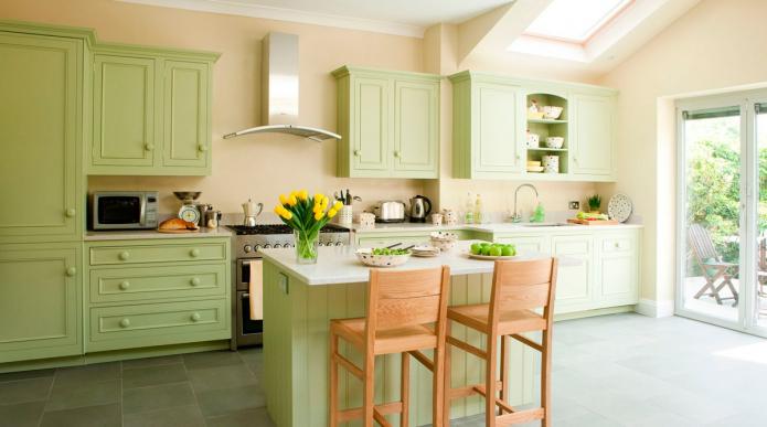 cuisine verte dans la maison