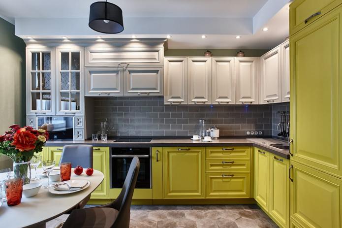 cuisine colorée dans un style classique