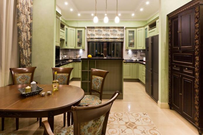 stores romains dans la cuisine