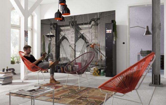 L'un des types de décoration murale les plus populaires aujourd'hui est le papier peint 3D