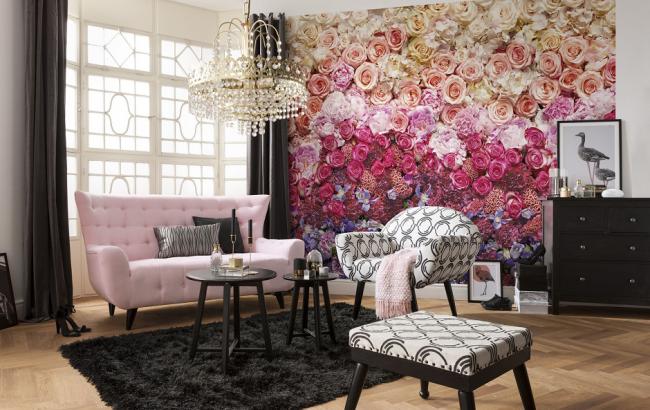 Tout thème de papier peint photo convient au salon, l'essentiel est l'harmonie avec l'intérieur de la pièce