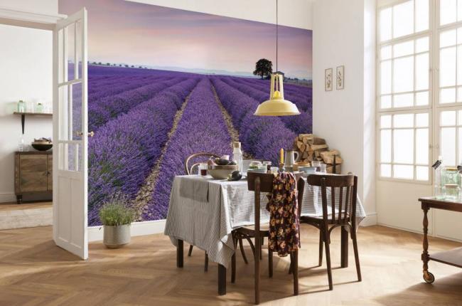 L'image sur le mur met l'accent sur le style provençal de la décoration intérieure