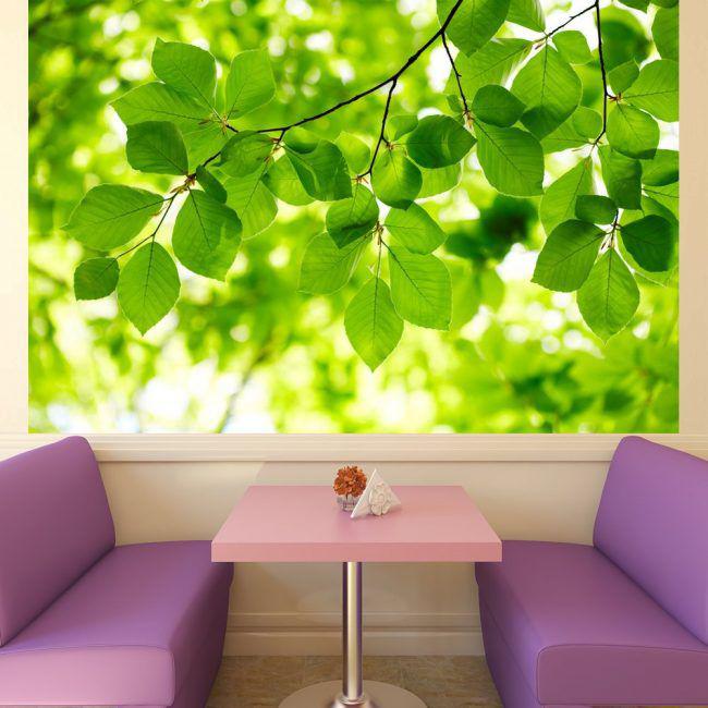 Imitation d'une fenêtre ouvrant dans la salle à manger