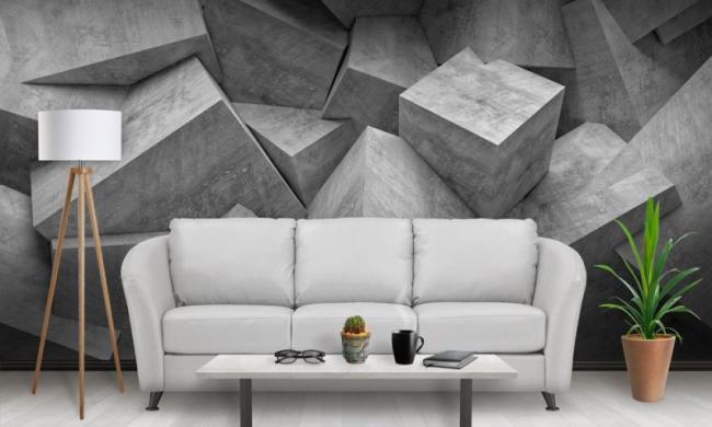 Le papier peint photo avec effet 3D convient à tous les styles de pièce