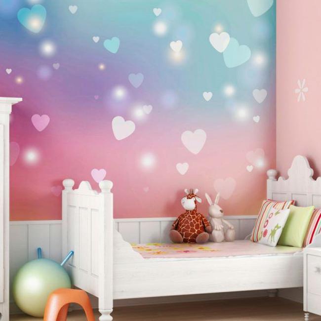 Délicate image romantique de la chambre de la petite princesse