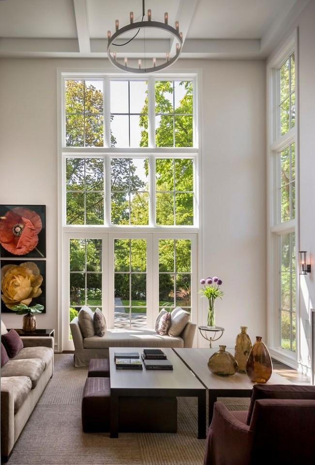 Les portes-fenêtres s'intégreront parfaitement dans un intérieur classique