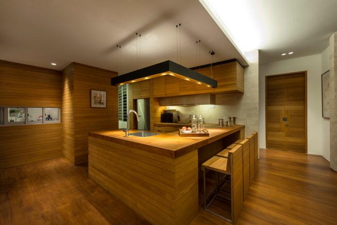 intérieur de cuisine de style japonais