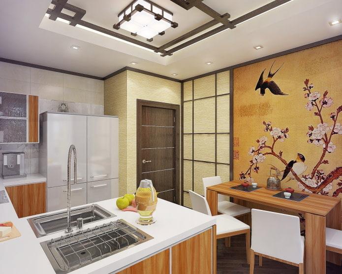 finition de la cuisine à la japonaise