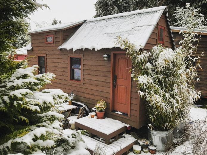 Tiny Tack House en hiver