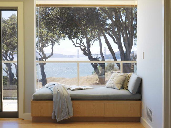 Seuil de canapé avec une belle vue sur le lac