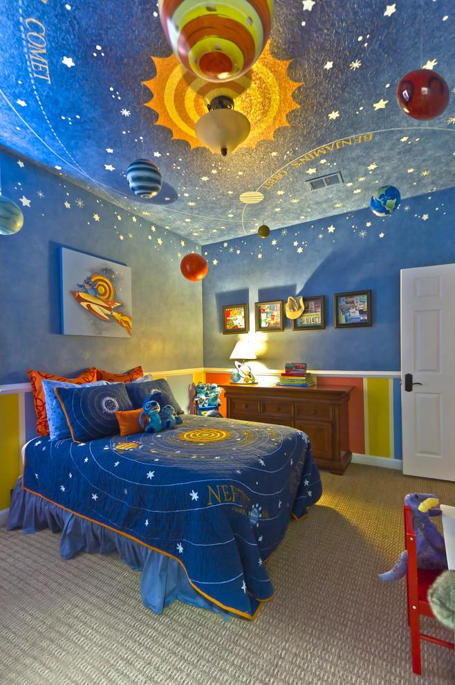 Les enfants seront complètement et inconditionnellement ravis, le plafond en forme d'espace