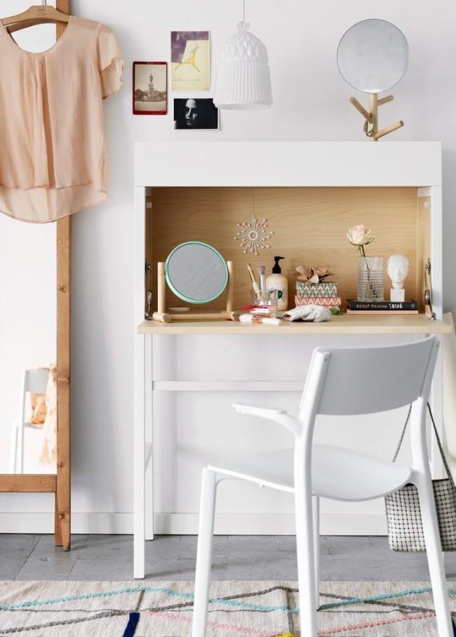 Version compacte de la coiffeuse dans un design moderne d'IKEA