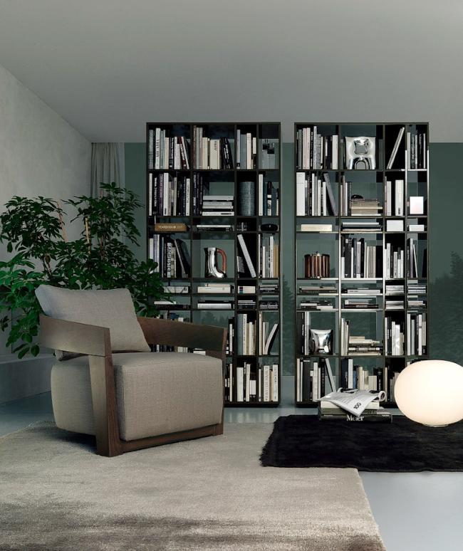 Vous pouvez organiser une bibliothèque dans le rack