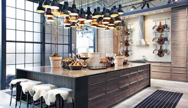 Un exemple de conception d'un espace cuisine d'IKEA