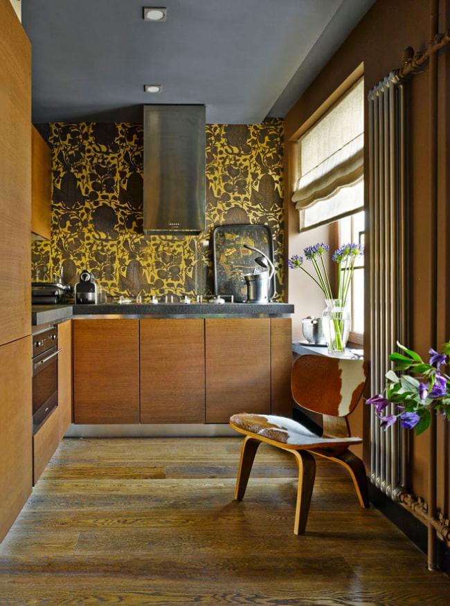 Décoration de salle de cuisine dans une palette de couleurs