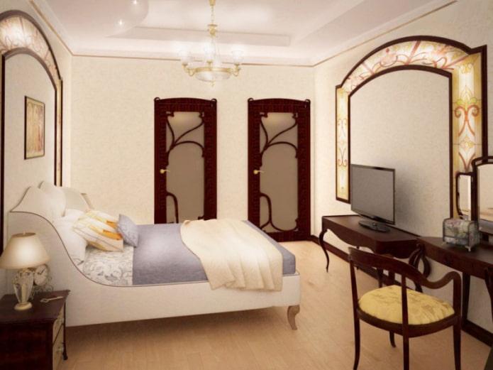 TV à l'intérieur de la chambre dans un style moderne