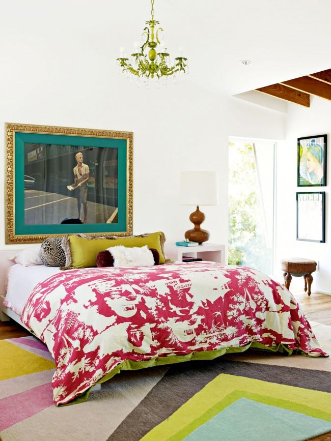 Style éclectique dans la conception de la chambre