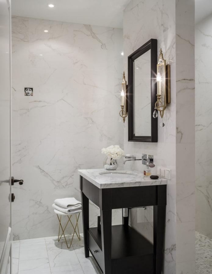armoire avec dessus en marbre