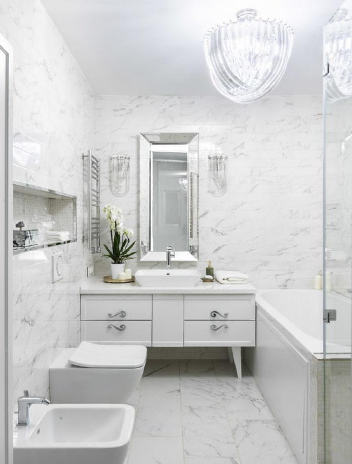carreaux de marbre blanc