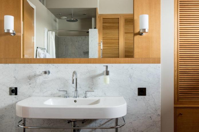 combinaison de marbre et de bois