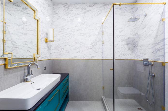 combinaison de marbre avec de l'or