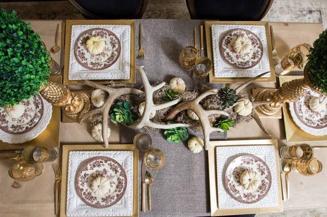 Réglage de la table de Noël