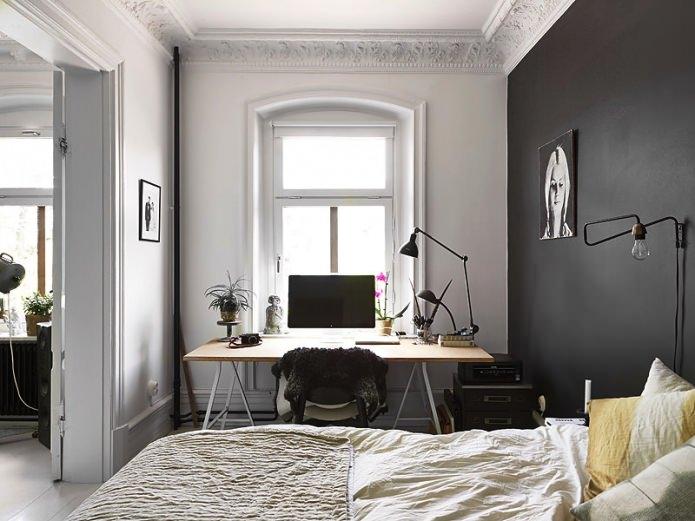 intérieur de la chambre avec bureau