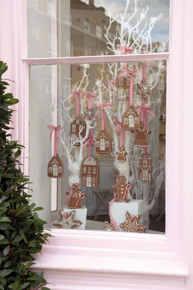 Option de décoration de fenêtre avec des décorations comestibles