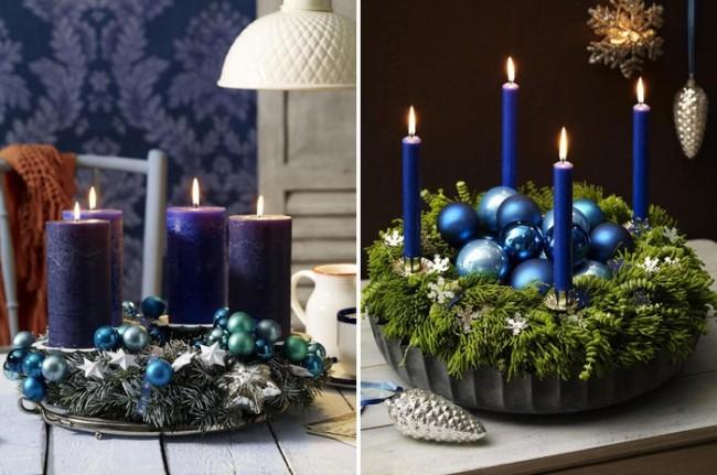 Les bougies scintillantes sont à juste titre considérées comme un élément indispensable du design du Nouvel An.