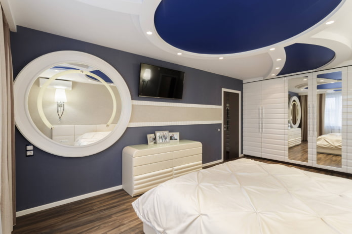 Accents circulaires bleus au plafond