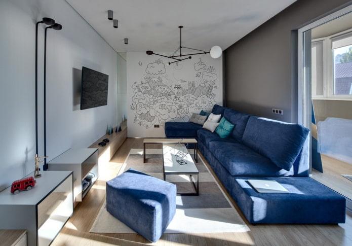 Canapé au sol