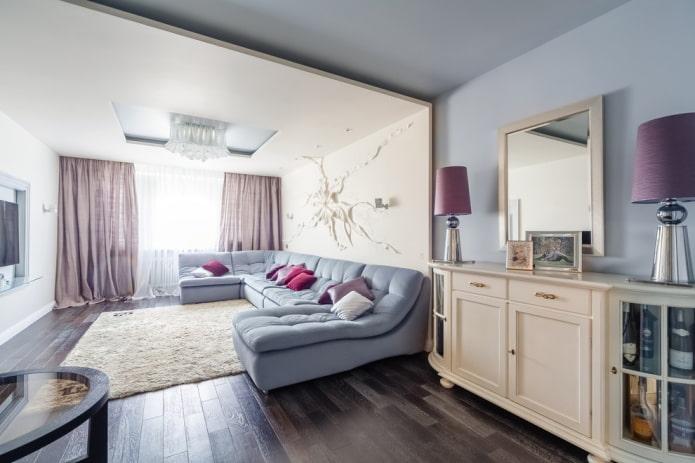 Canapé spacieux en forme de U