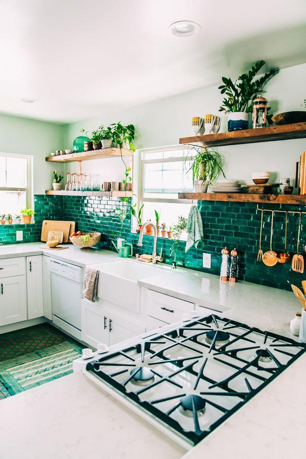 La disposition des meubles en forme de U convient à une grande cuisine