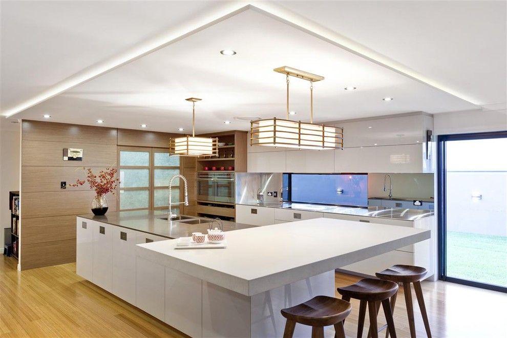 Conception de cuisine japonaise moderne et légère