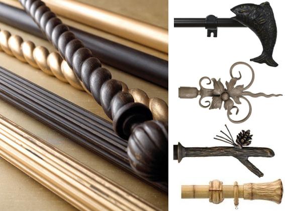 Presque toutes les pointes en métal peuvent être assorties aux corniches en bois