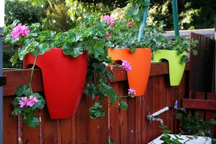Des pots en plastique dont la configuration leur permet