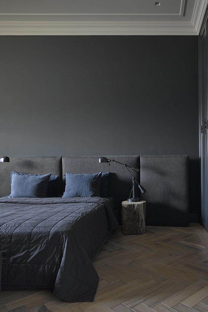 murs noirs dans la chambre