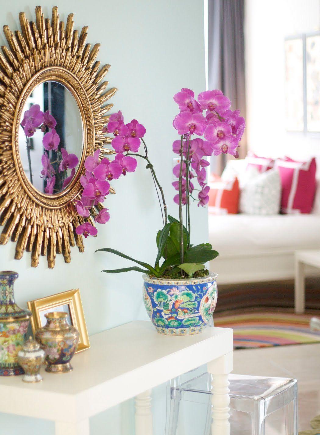 Un miroir dans un cadre exquis est un point culminant lumineux de l'intérieur