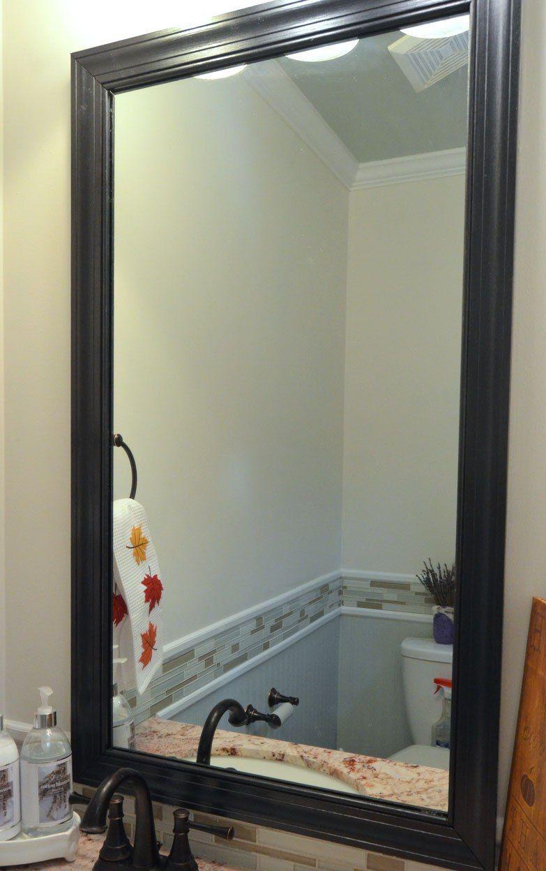 Cadre de miroir en plinthes - simple et beau