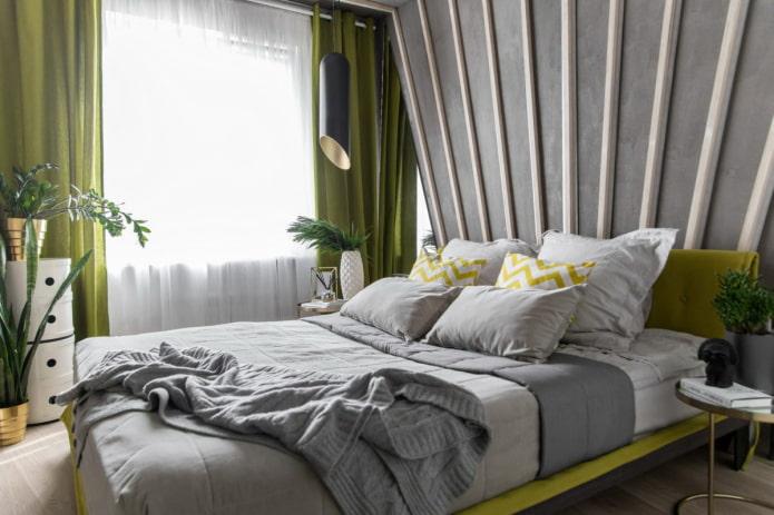 rideaux pour chambre à coucher dans un style moderne