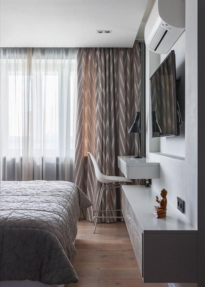 rideaux à motifs géométriques