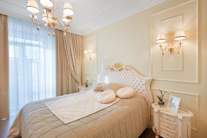 rideaux de chambre de style classique
