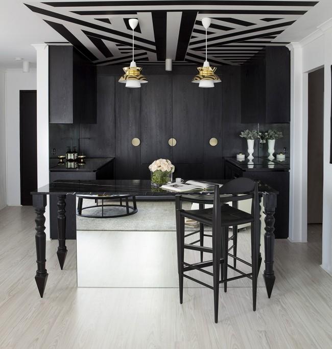 La perception générale lors de la visite de la pièce dépend du décor du plafond.