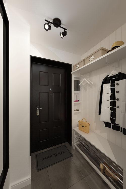hall d'entrée dans la conception d'un studio de 33 m².  m.